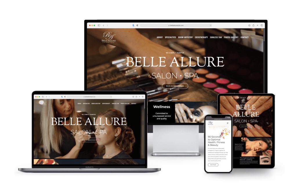 New Jersey Multimedia • Web Design • Belle Allure Salon Spa
