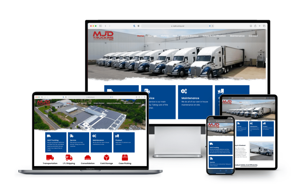 New Jersey Multimedia • Web Design • MJD Trucking