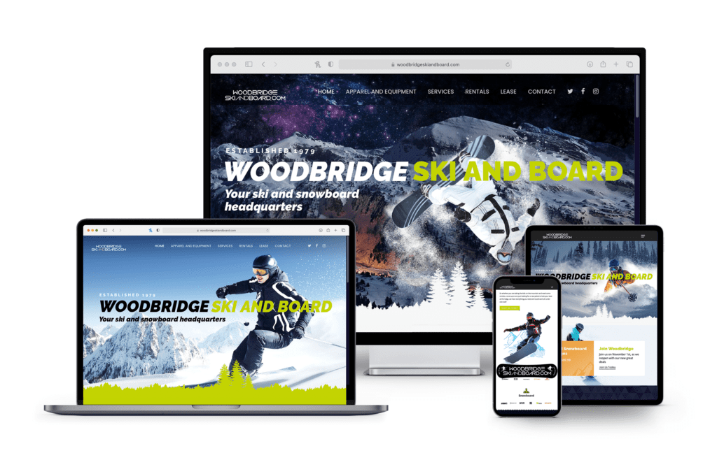 New Jersey Multimedia • Web Design • Woodbridge Ski and Board